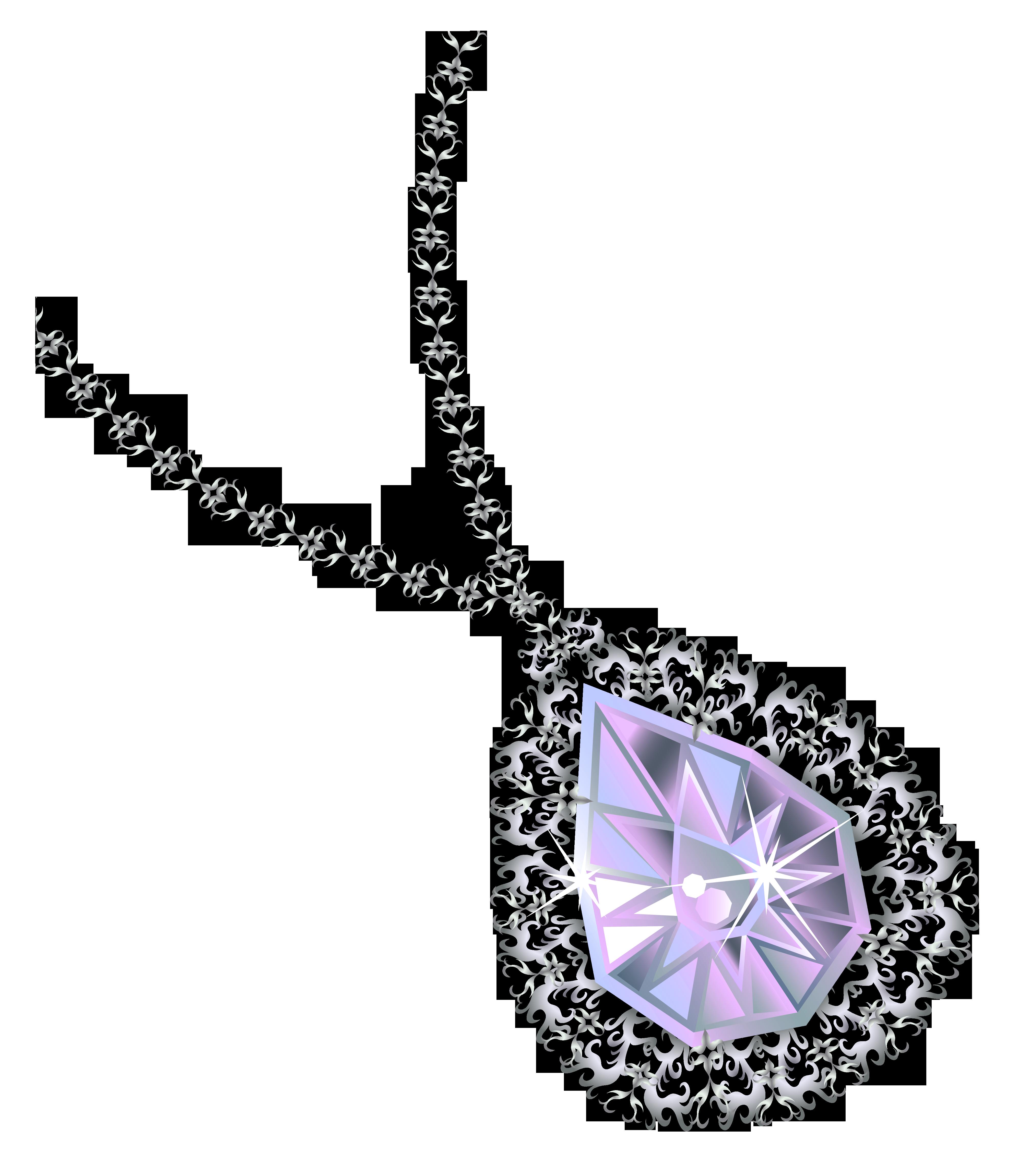 Pendent clipart border Diamond  Necklace Clipart