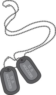 Necklace clipart army #12