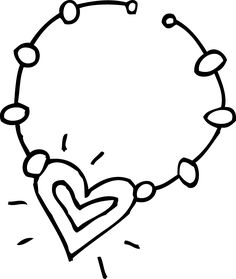 Necklace clipart black and white Necklace chocolate clip  doodle