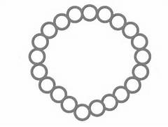 Necklace clipart black and white Main Necklace Black And Black