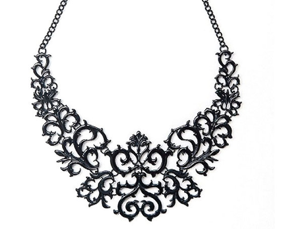 Necklace clipart black and white Necklace Zone Black clipart black