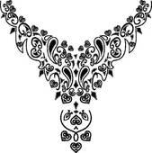 Necklace clipart black and white Necklace Art Design Fashion GoGraph