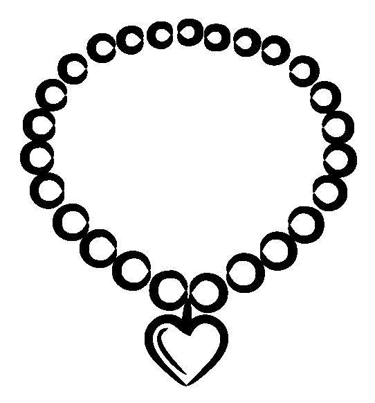 Necklace clipart black and white Necklace white bracelet Clip Art
