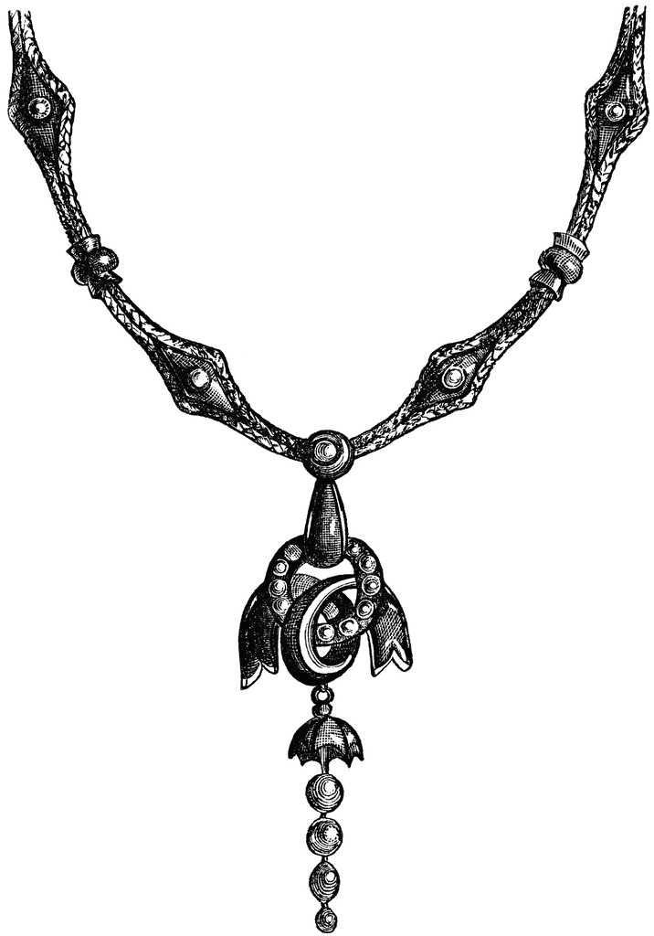 Necklace clipart black and white Necklace White Necklace Ideas Design