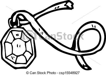 Necklace clipart cartoon Necklace Illustration Vector diamond csp15548927