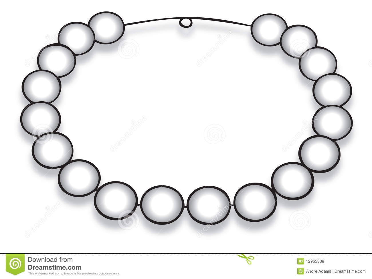 Necklace clipart for kid #7