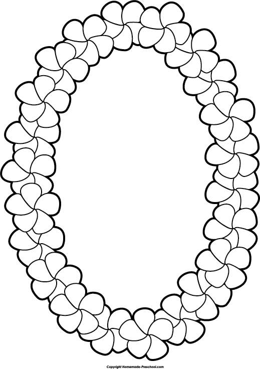 Necklace clipart lei #11