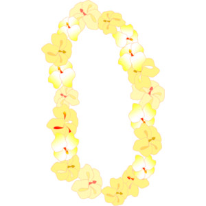 Necklace clipart lei #6