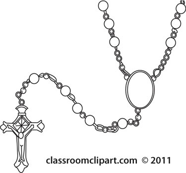 Necklace clipart outline Clipart #21537 clipart rosary classroom