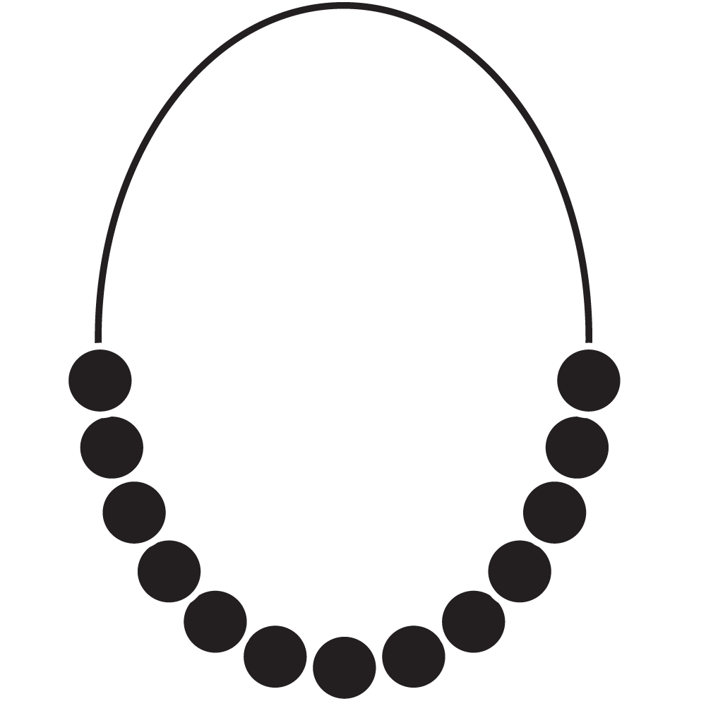 Necklace clipart outline Necklace Jumbo Race and Pearl
