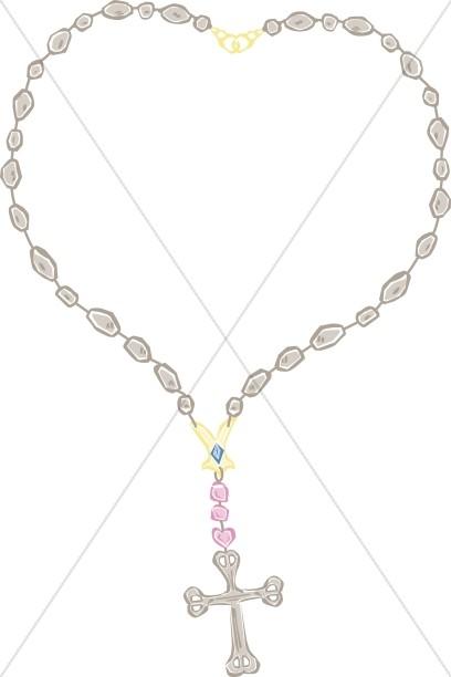 Necklace clipart outline Cross clipart Clipart Cross Outline