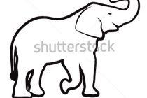 Necklace clipart outline Elephant  Cute Tattoo Design