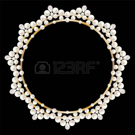 Necklace clipart pearl strand #12
