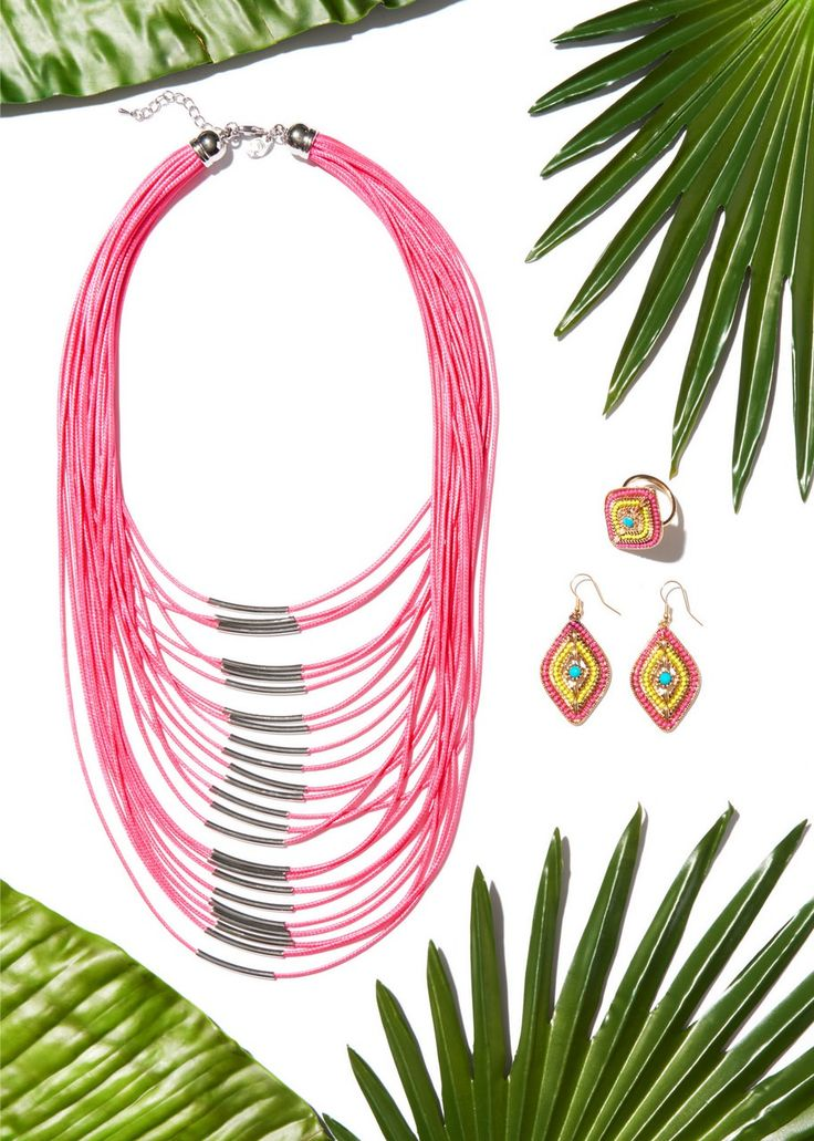 Necklace clipart swag Necklace Layered Bar Pinterest Tropical