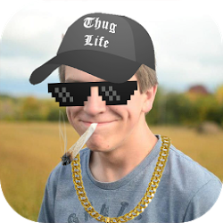 Necklace clipart thug life #15