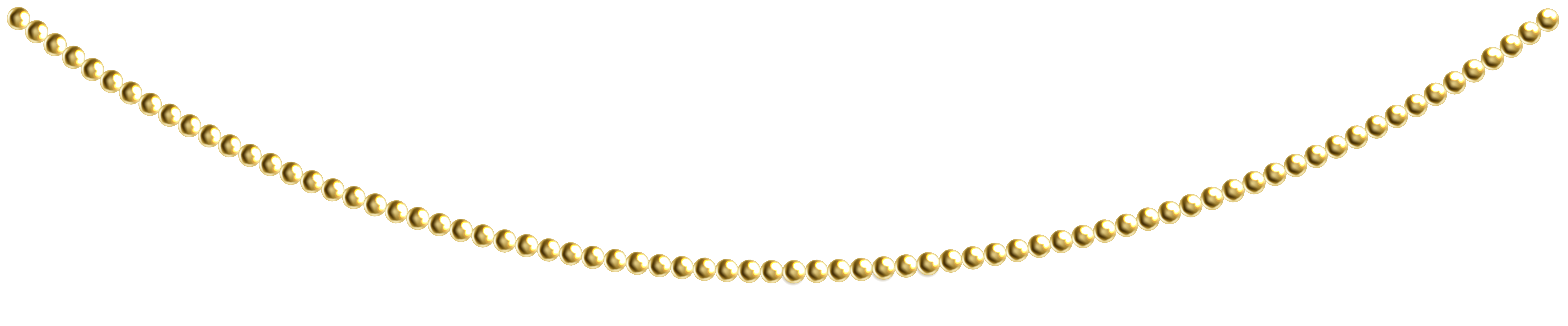 Necklace clipart transparent Yopriceville Beads Gold Clip PNG