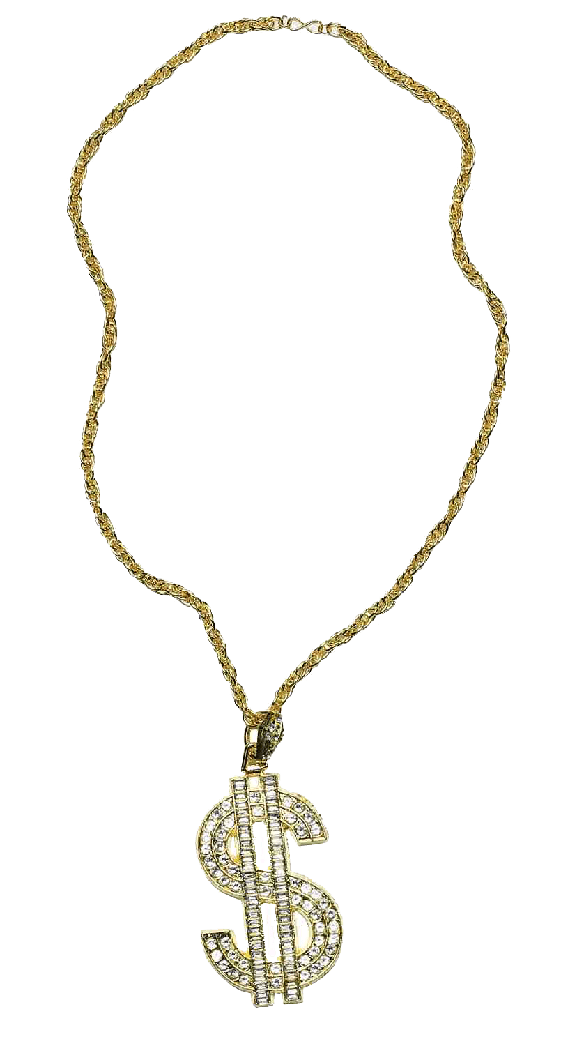 Necklace clipart transparent PNG Dollar Chain Life Thug
