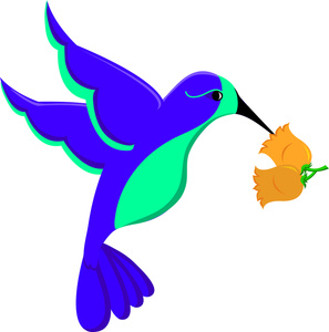 Blue clipart hummingbird Hummingbird Nectar Nectar Hummingbird Flower