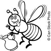 Nectar clipart spring Bee book Vector coloring