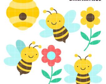 Bees clipart four Clipart Art Clipart Cute Nectar