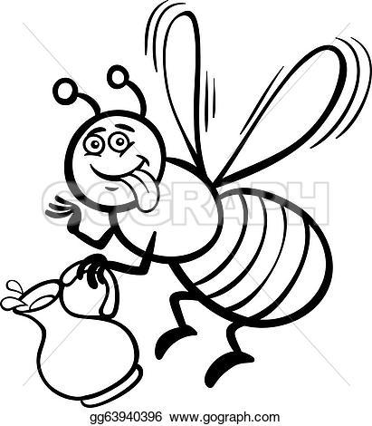 Nectar clipart coloring Black Art or honey