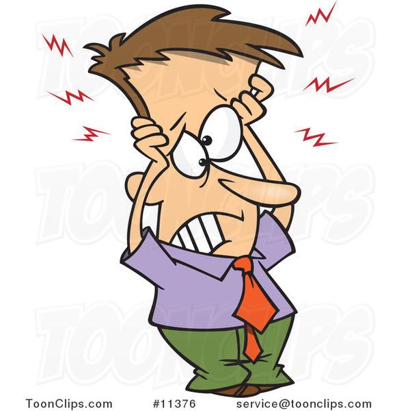 Needless clipart cartoon Frazzled head his McVey man