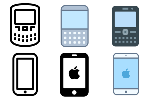 Needless clipart icon Say and and to smartphones
