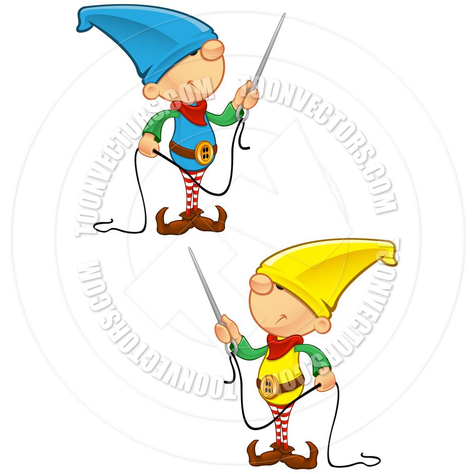 Needless clipart needle and thread Cartoon Elf by Free Art