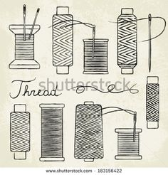 Needless clipart thread spool And on and paper sewing