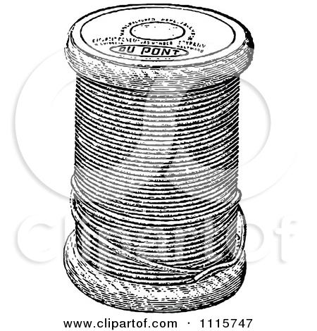 Needless clipart thread spool Clipart Black Retro White Clip