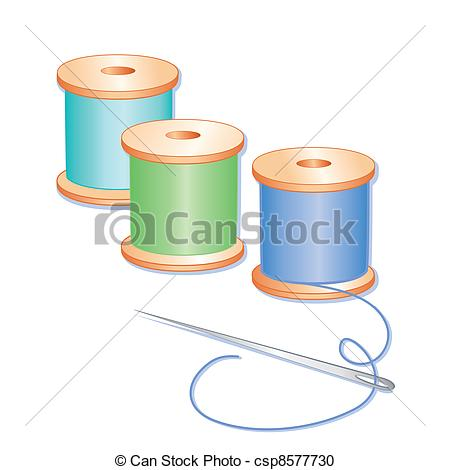 Needless clipart thread spool Threads green aqua of 39