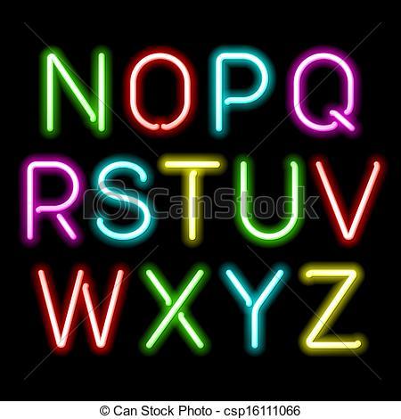Neon clipart Part Art  glow Clip