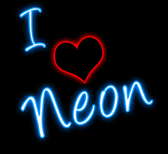 Element clipart neon I Neon Free Sign Love