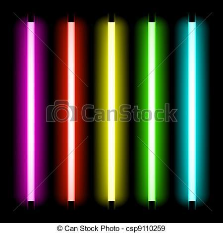 Neon clipart line Light tubes of Neon light
