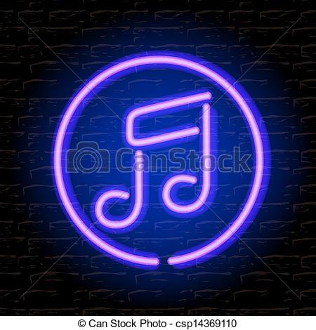Neon clipart music note Eps10 Clip Neon the brick