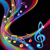 Neon clipart music note Note Music notes background Royalty