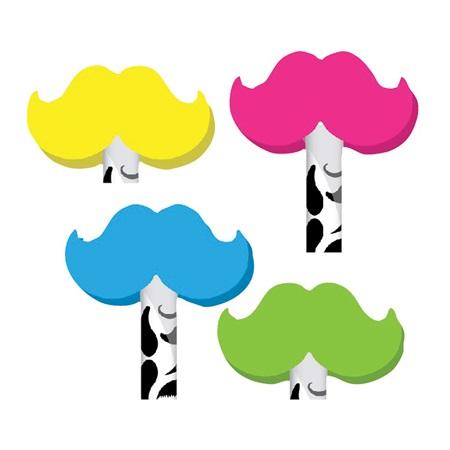 Neon clipart mustache #3