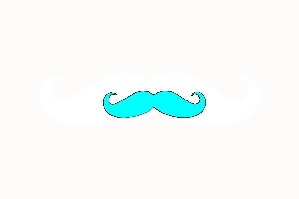Neon clipart mustache #7