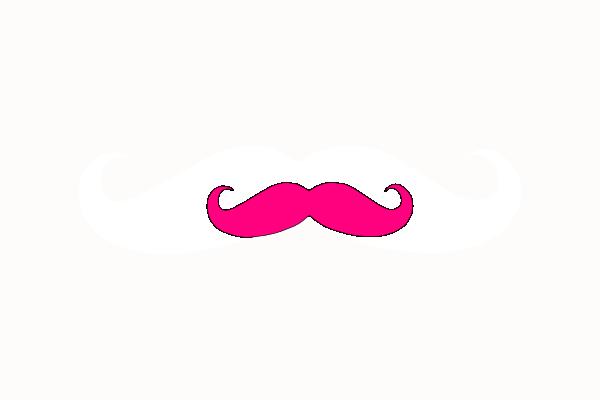 Neon clipart mustache #9