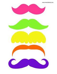Neon clipart mustache #11