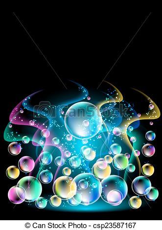 Free And versicoloured Smoke bubbles