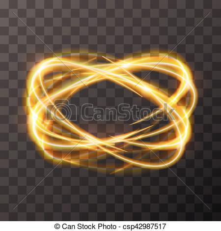 Art golden swirl blurry trail