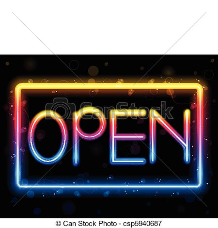 Neon Sign clipart Neon Open Color neon Rainbow
