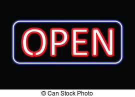 Neon Sign clipart Sign neon Open black of