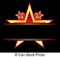 Neon Sign clipart broadway theatre Neon and behind  blank