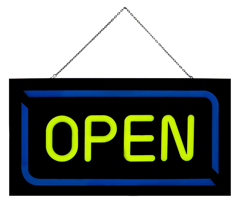Neon Sign clipart business open Bright window Flashing Bar for
