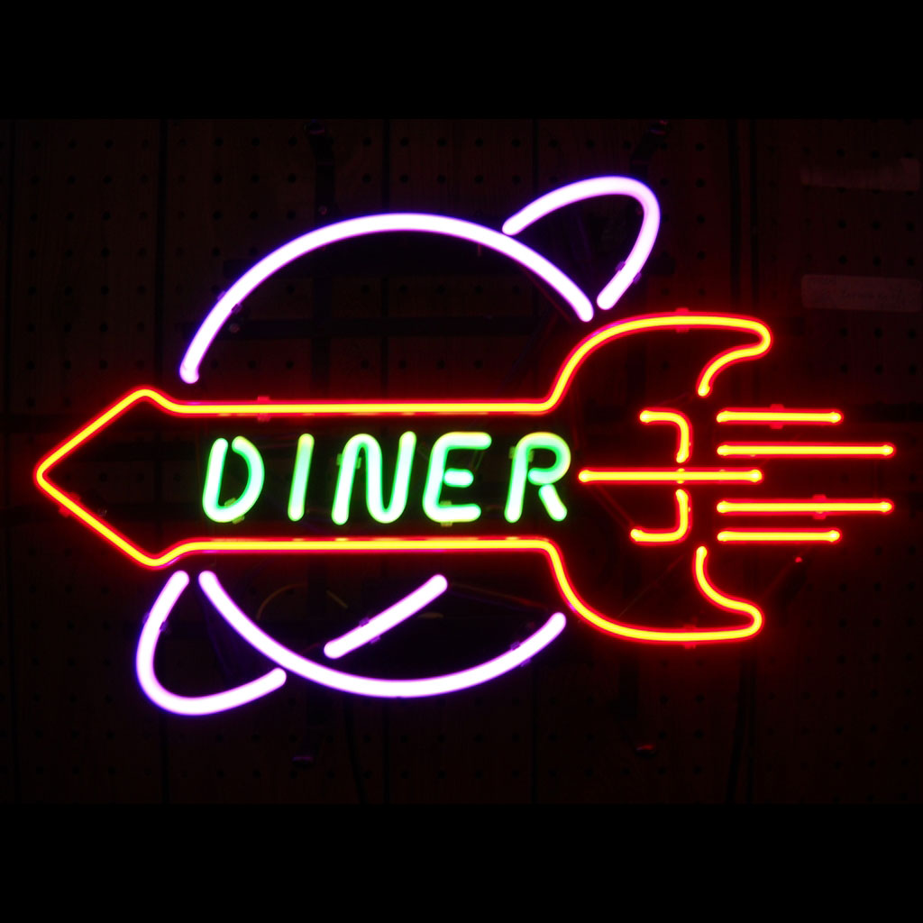 Neon Sign clipart diner Neon a Center Sign style
