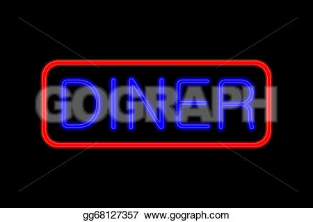 Neon Sign clipart diner And showing Drawing Drawing gg68127357