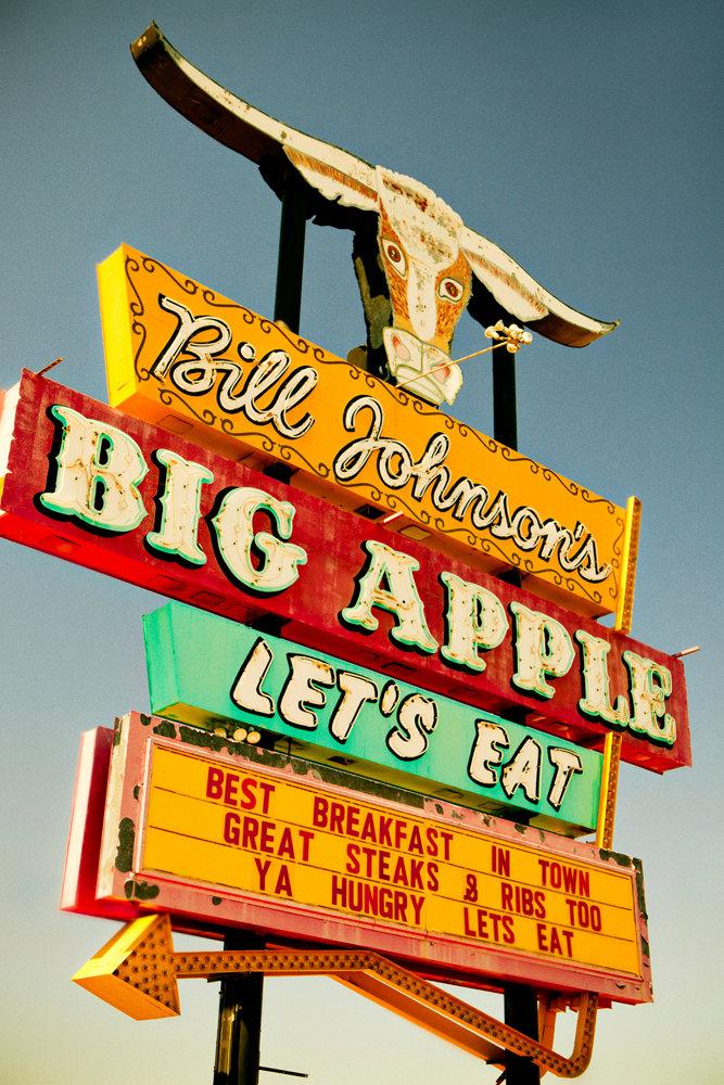 Neon Sign clipart diner Vintage Kitchen Big Apple Neon