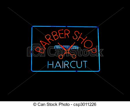 Neon Sign clipart SHOP BARBER Stock BARBER csp3011226
